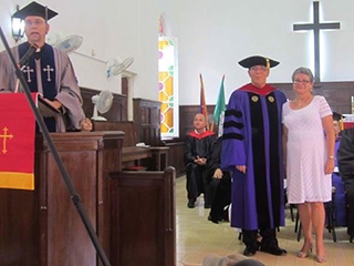 First graduation ceremony at the Evangelical Seminary of Theology in Matanzas, Cuba with Rev. Carlos E Hams, Rector (2016)