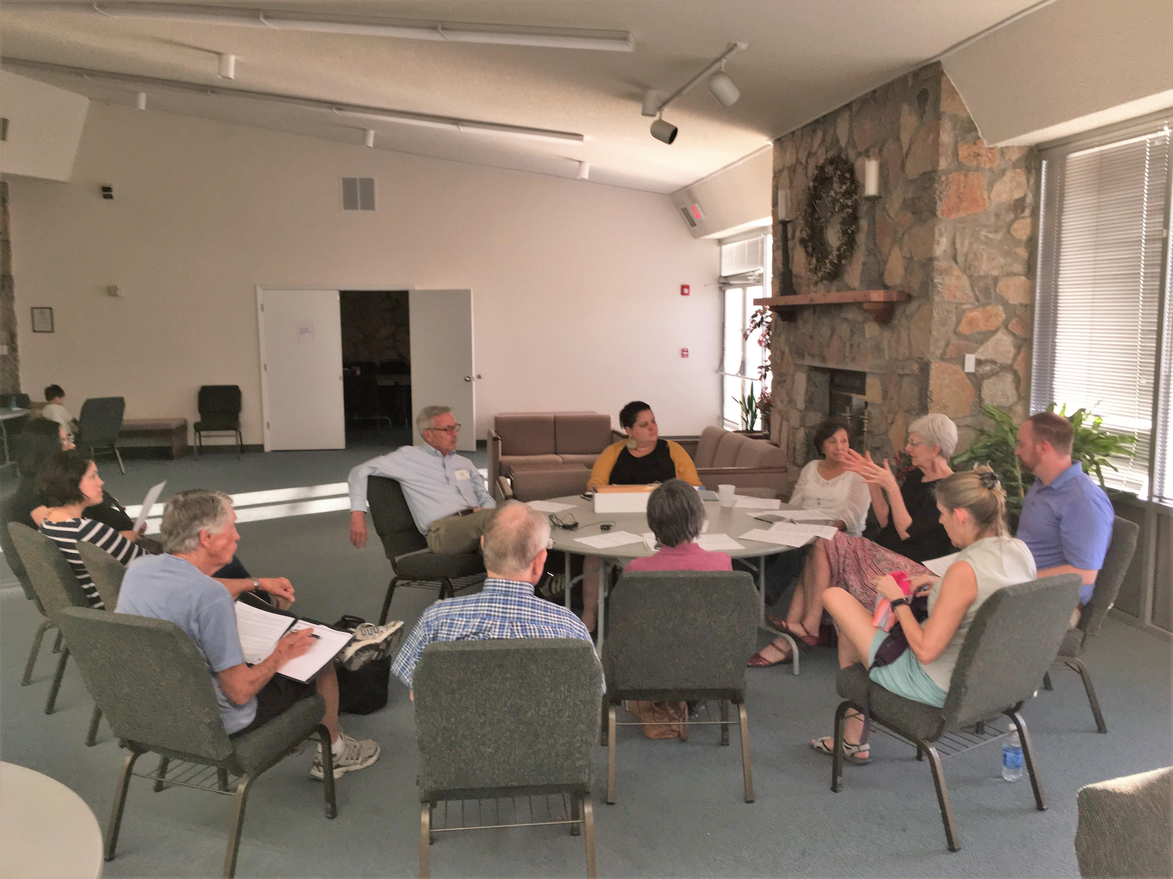 University Presbyterian Church members preparing to receive refugee guests