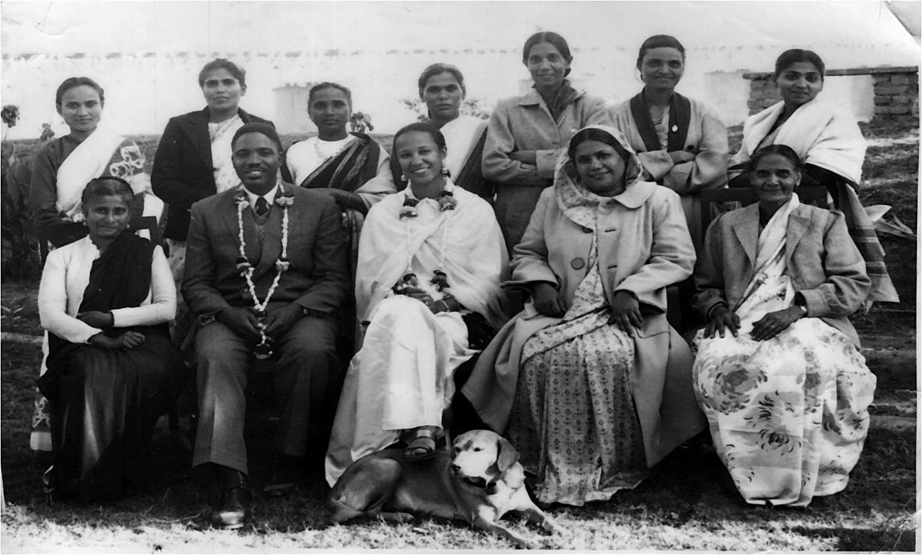 Darius and Vera with friends in India, 1952