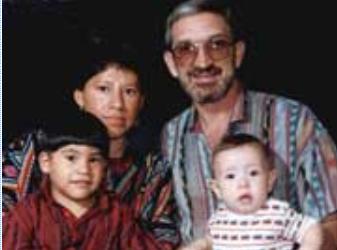 The Smith Pérez family in Guatemala in 1995.