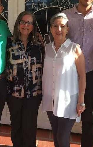 Rev. Zulema García (l) and Dr. Loida de Valera of the Presbyterian Church of Venezuela.