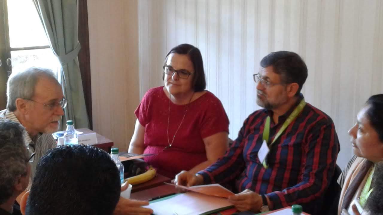 IPU Moderator Elder Anita Wright Torres participates in a meeting of ecumenical leaders in Buenos Aires.