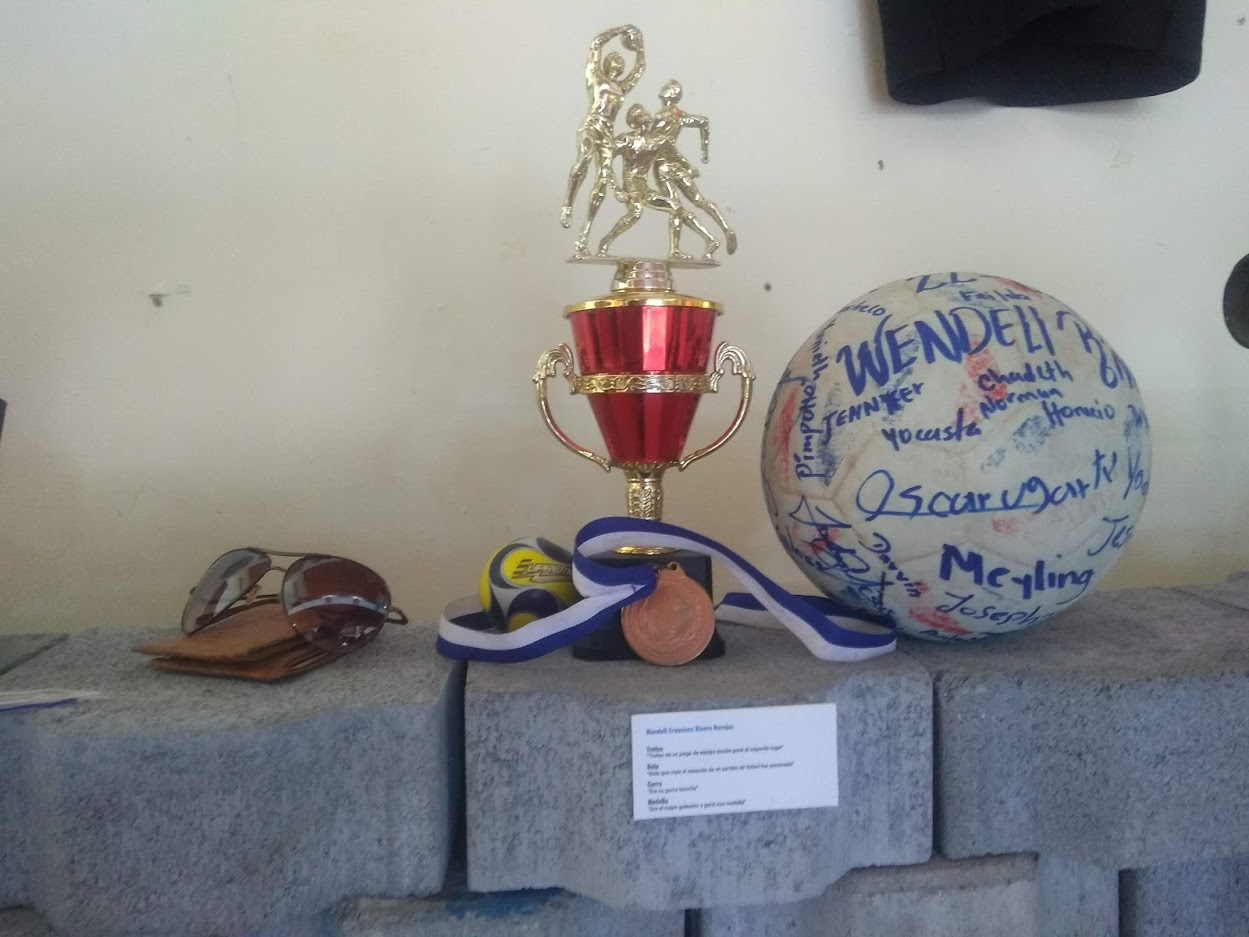 A display honoring one of the fallen children at the Museum of Memory Against Impunity.