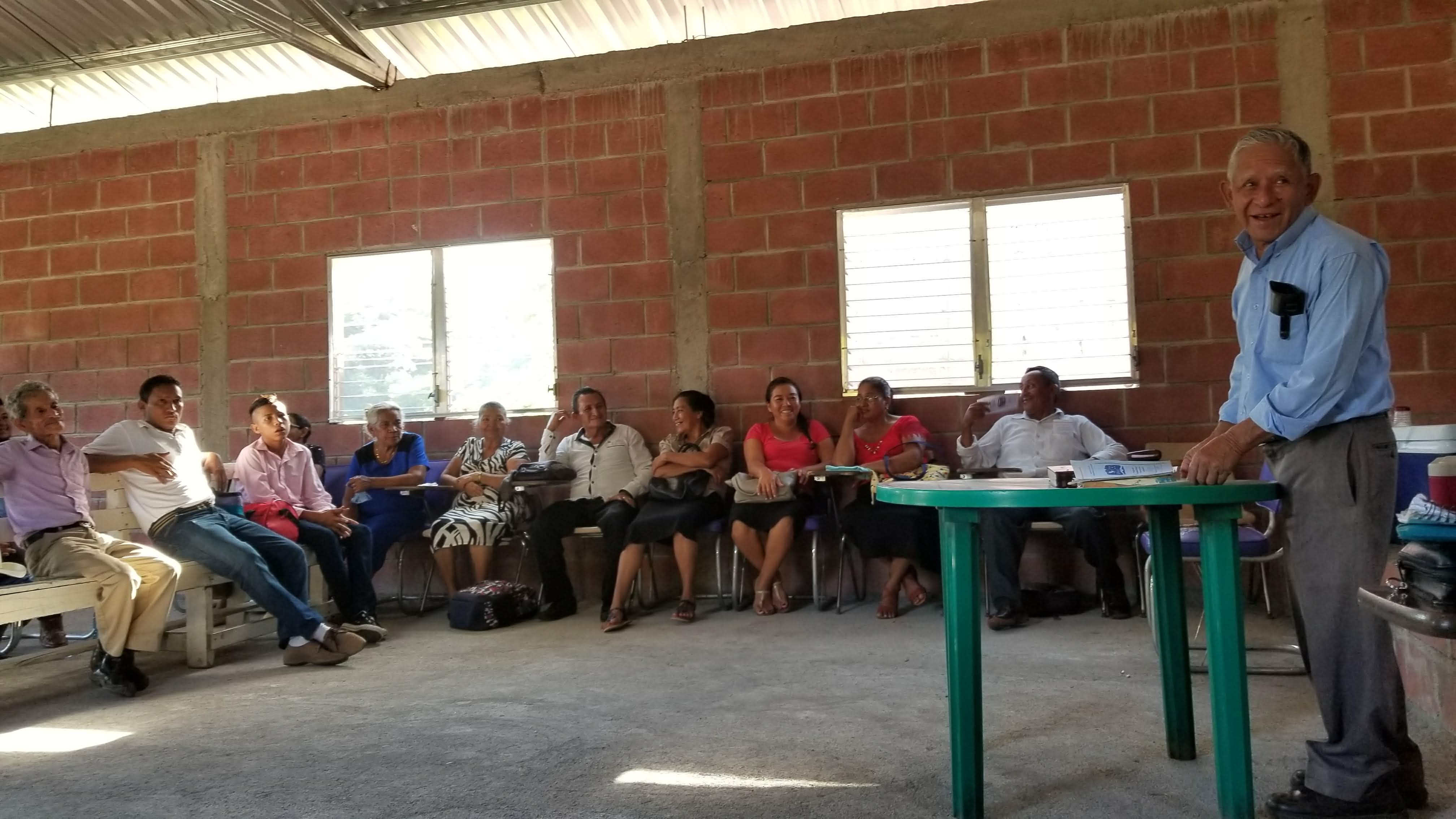 Pastor Edin Samayoa leads a workshop in the Moropocay region about Presbyterian church governance and training for deacons and elders.