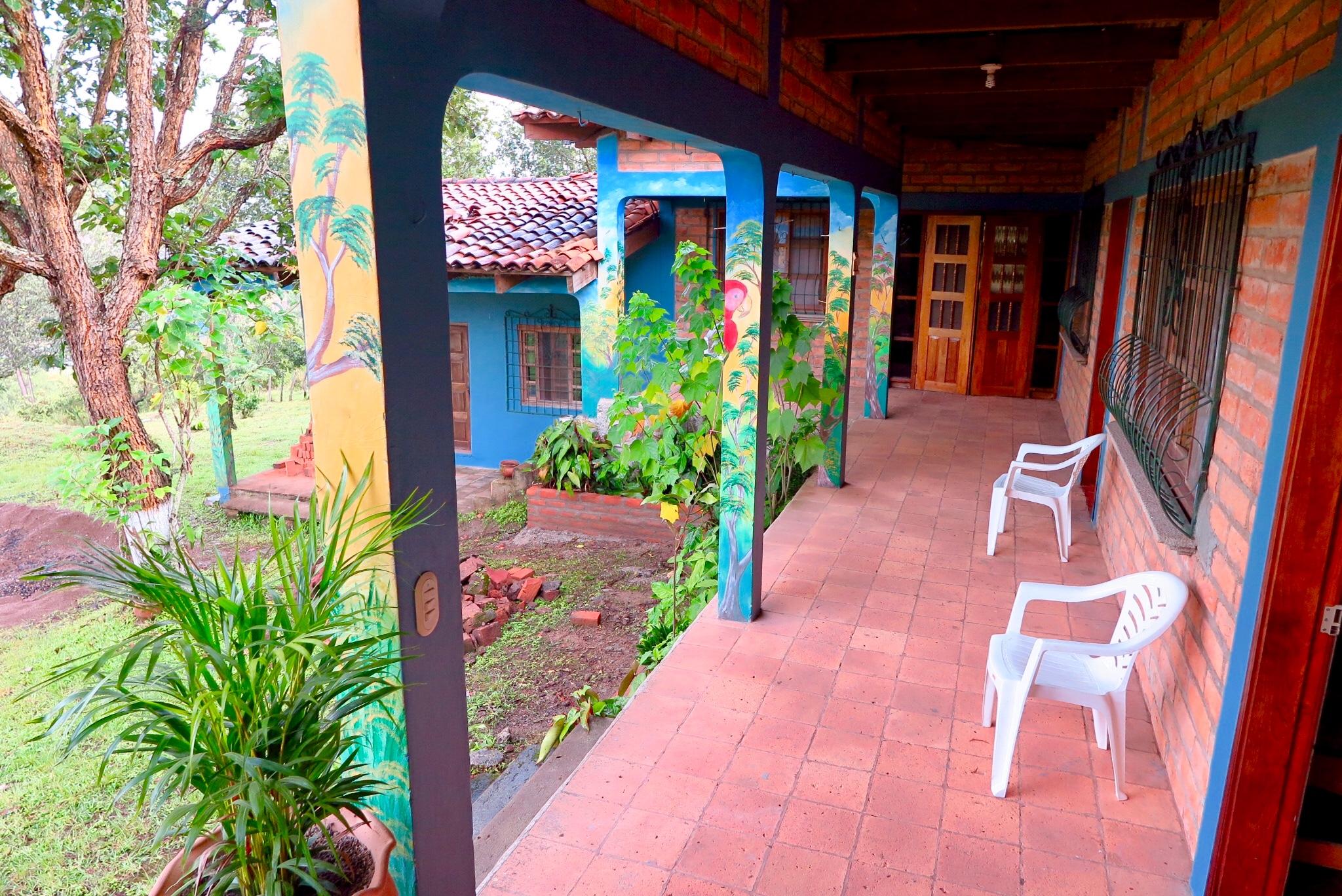 Villa Gracia's front porch.