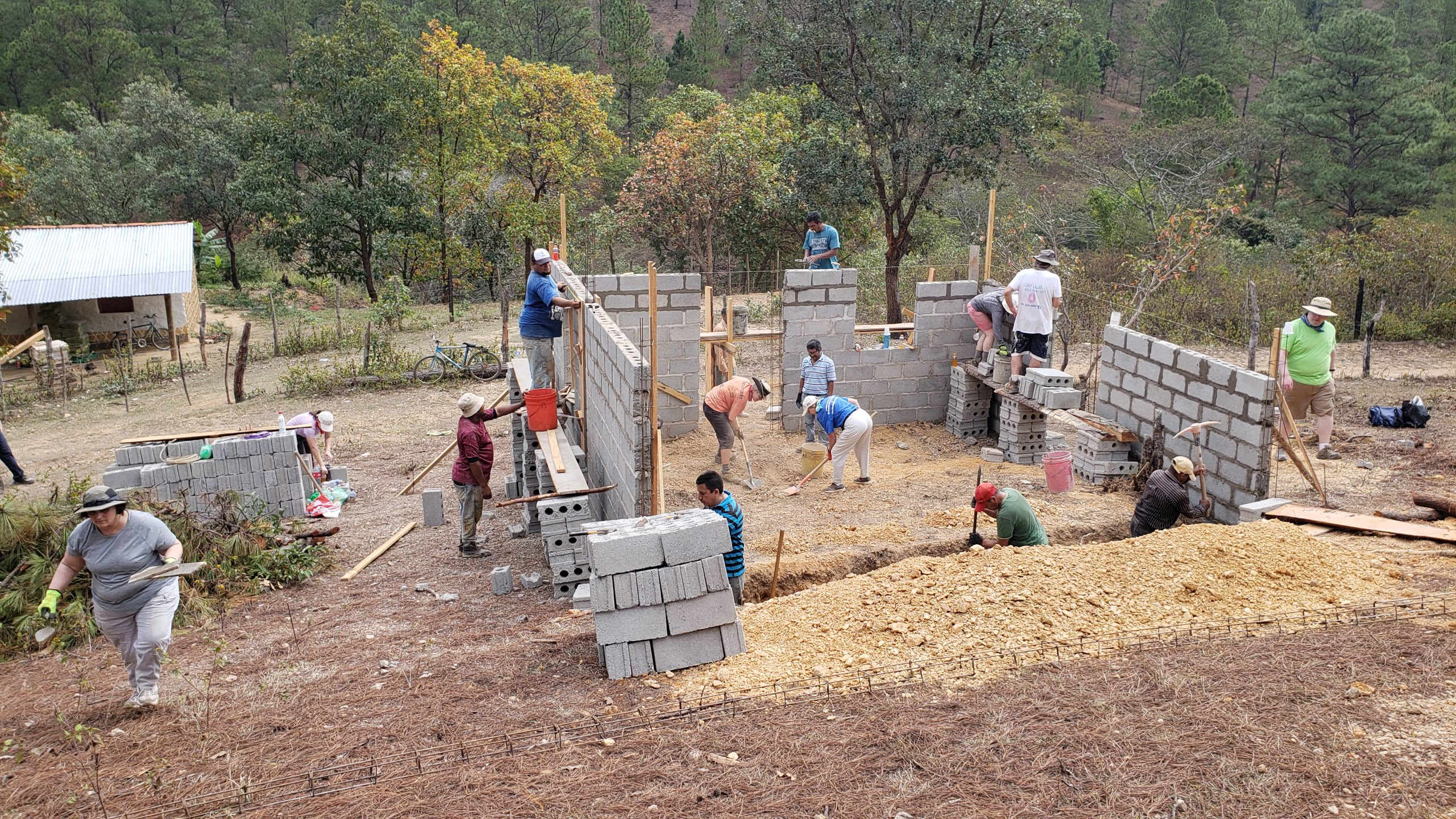 Looking back on memories of togetherness, I am trying to reimagine partnership in our new post-pandemic reality. Here, a group from Carlisle Presbytery in Pennsylvania aids the Honduran Presbyterian Church in building a home for someone in need, in 2019.