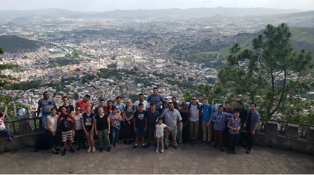 A joint Honduran and U.S. youth group has moved to meeting over Zoom and canceled this year's annual visit. This photo was taken in 2019 in Tegucigalpa.