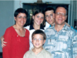 The Gartrells in 2001. Right to left: Gordon, John, Elizabeth and Dorothy with Daniel in the front.