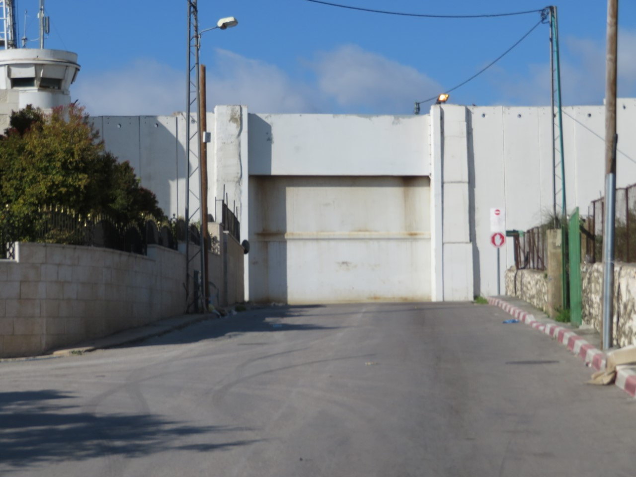 The main entrance and exit from Bethlehem, sealed shut by Israel.