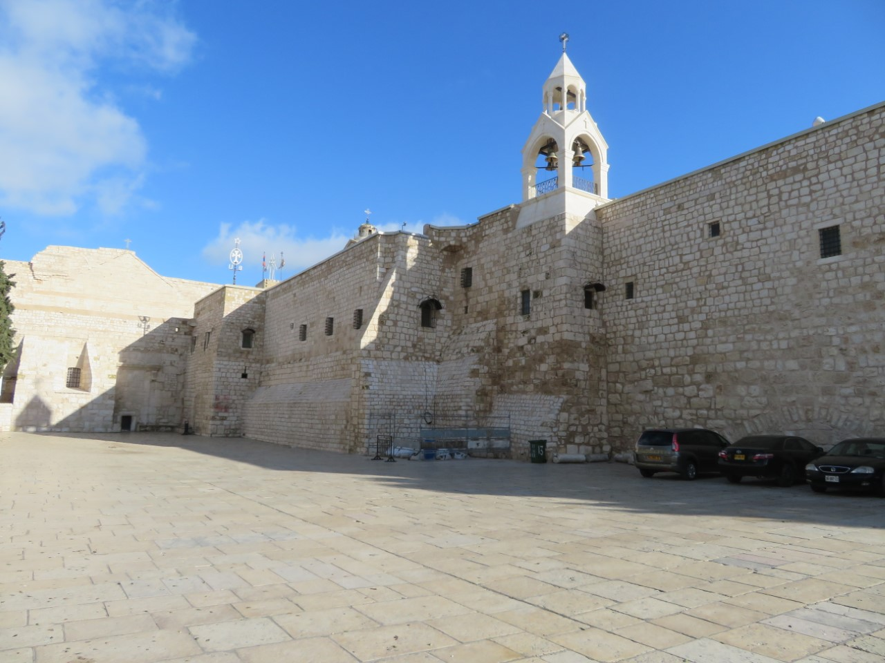 The Church of the Nativity in Bethlehem, devoid of pilgrims and tourists.