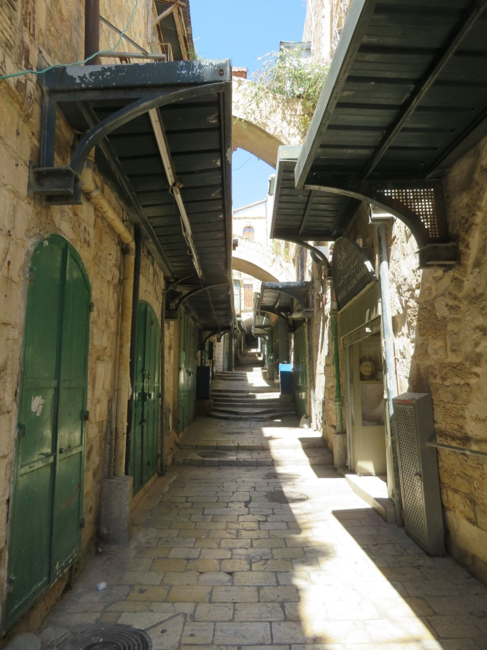 Usually teeming with tourists and pilgrims, the Via Dolorosa in Jerusalem's Old City is empty due to the coronavirus pandemic.