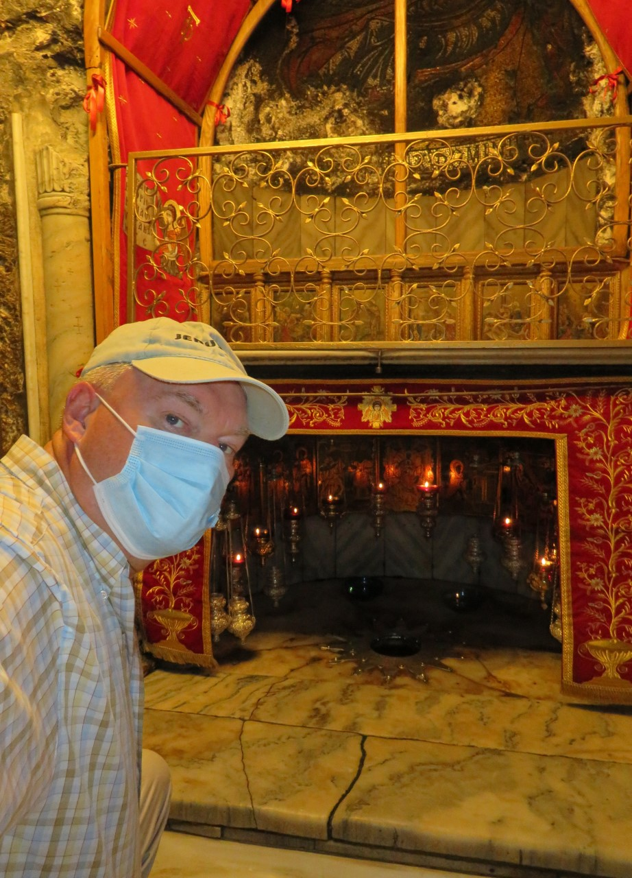With the downturn in tourism due to the Coronavirus, the holy sites today stand empty.  Doug visits the Grotto inside of the Church of the Nativity in Bethlehem.