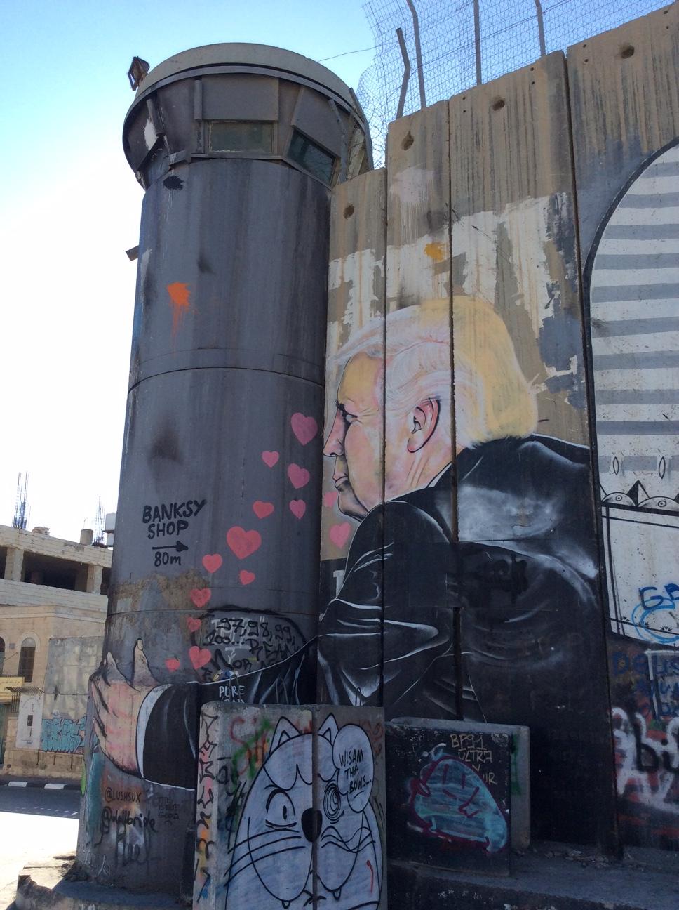 Israel's Separation Barrier/Wall in Bethlehem.