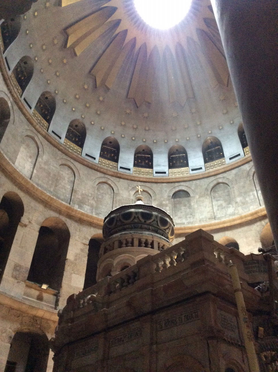 The Edicule, or Tomb of Christ, within the Church of the Holy Sepulchre.