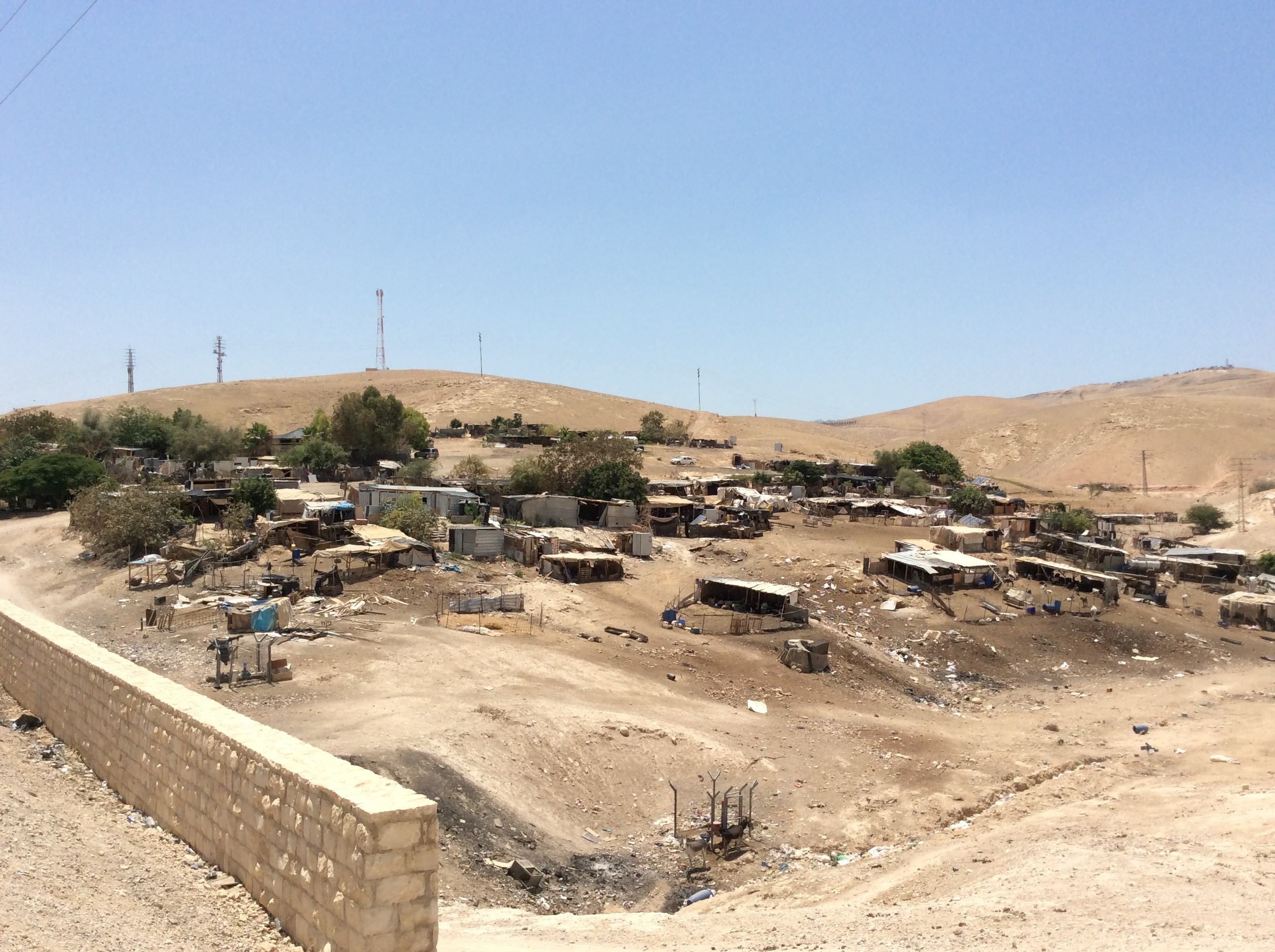 The tiny Bedouin enclave of Khan Al Ahmar. Israel's High Court has ruled that the village can be demolished and its inhabitants relocated to a site next to a Jerusalem landfill.