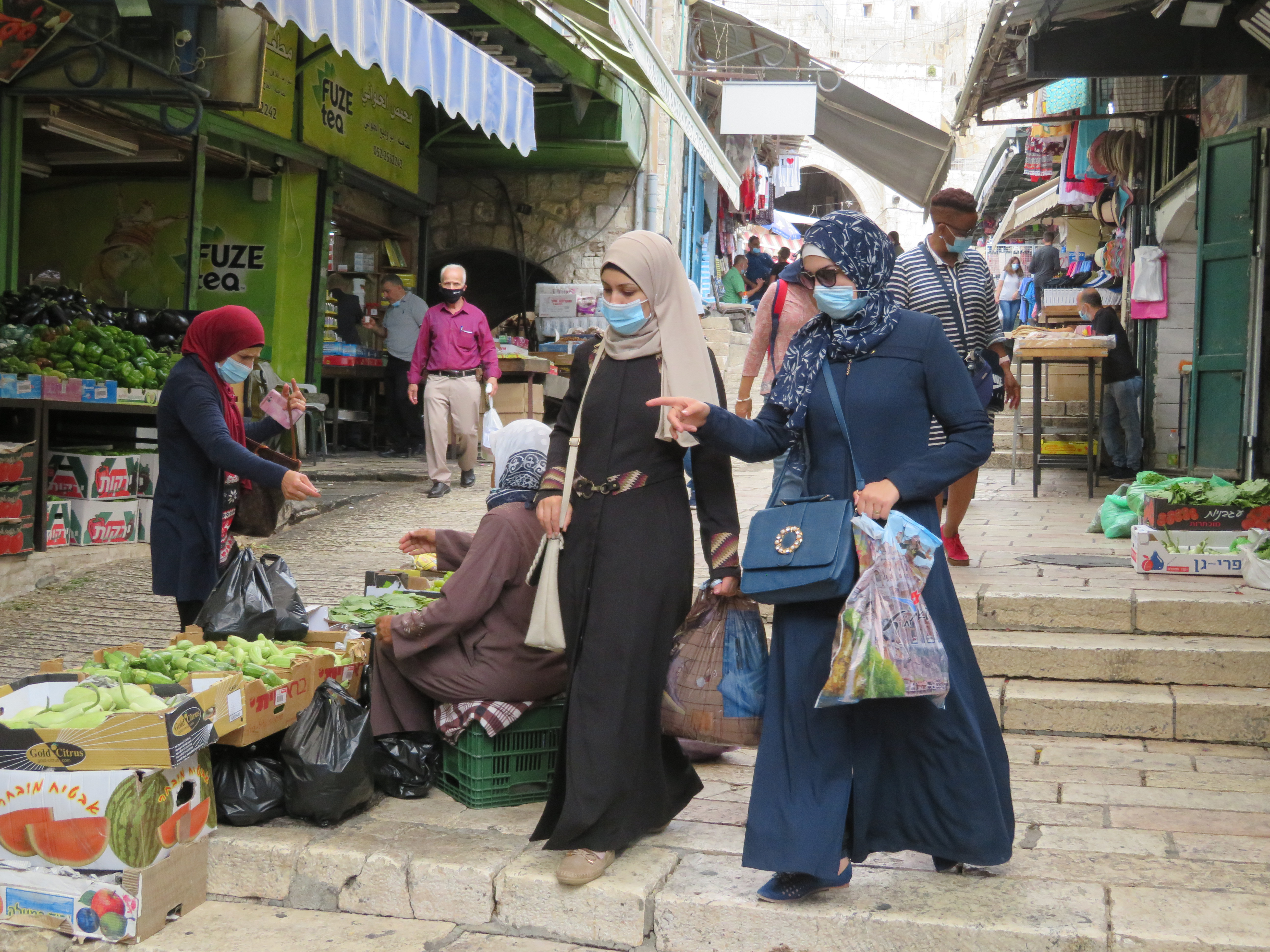 Shopping inside of Damascus Gate in the Old City of Jerusalem.