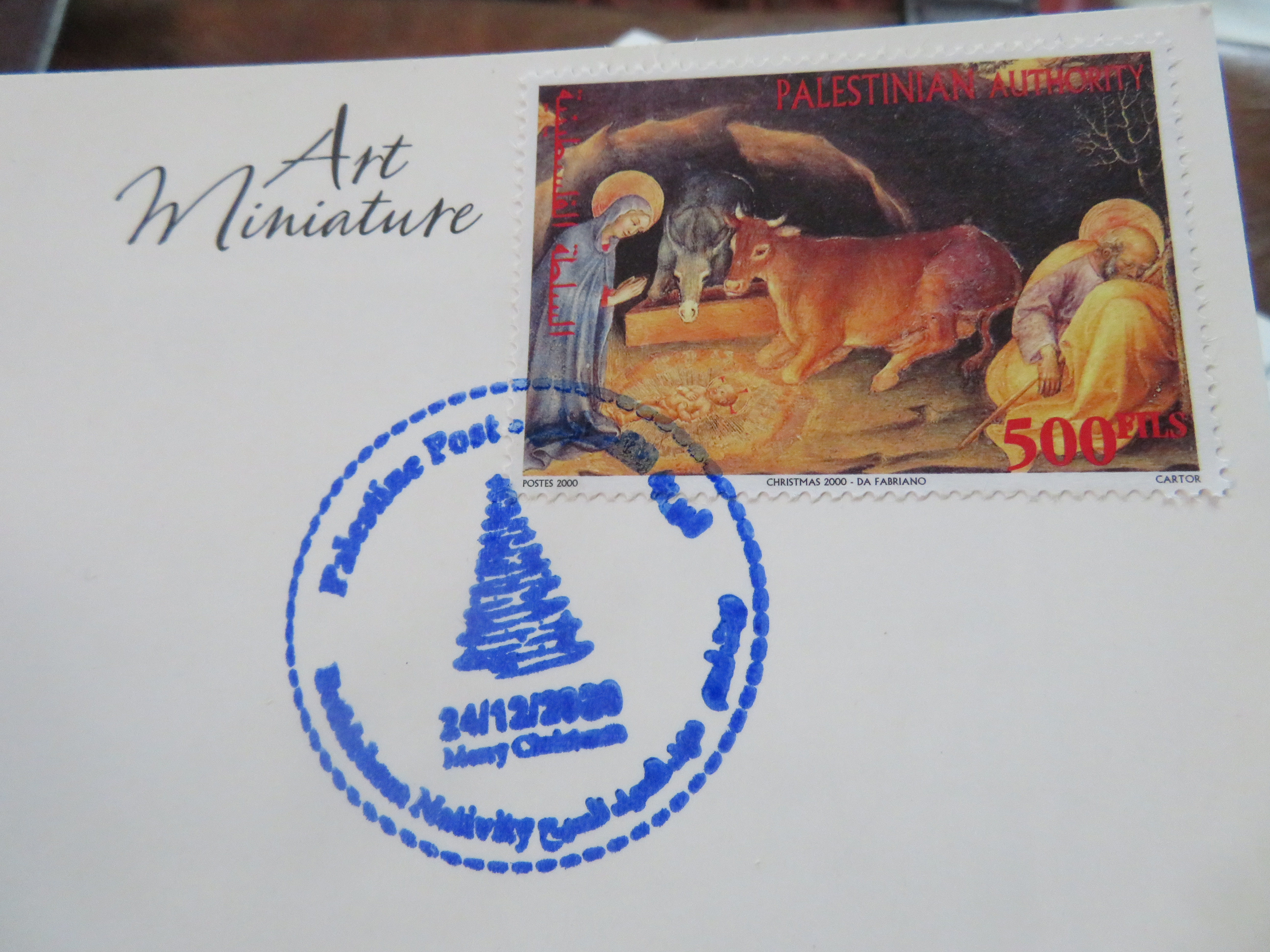 Pandemic Postmark: The special cancellation stamp for mail postmarked in Bethlehem on Christmas Eve, 2020