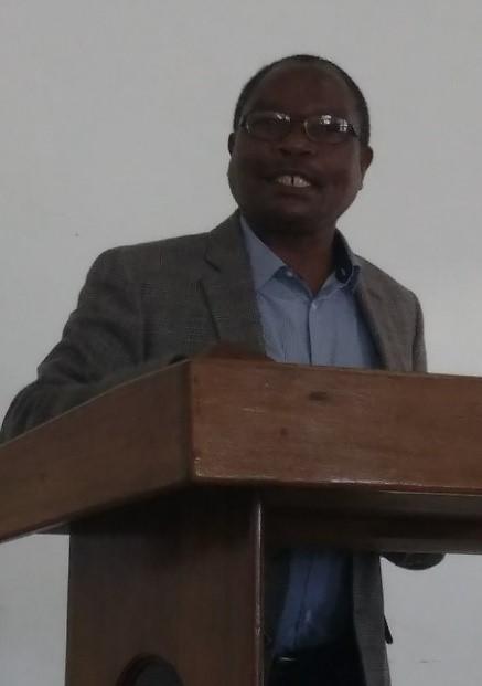 Dr. Lucas Soko preaching in chapel.