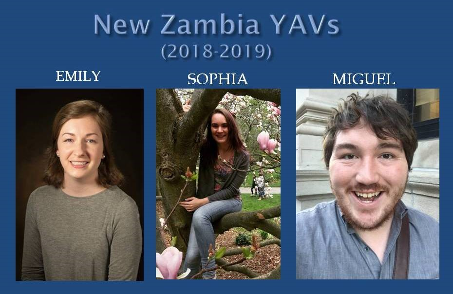 Please pray for these new YAVs. They arrived in Zambia August 28.