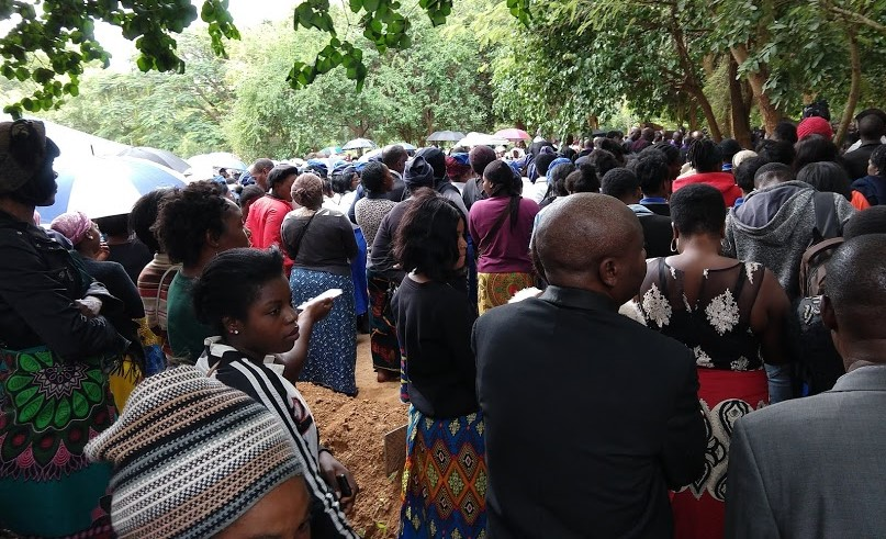 Graveside service for Rev. Gerald Phiri. The rain seemed appropriate.