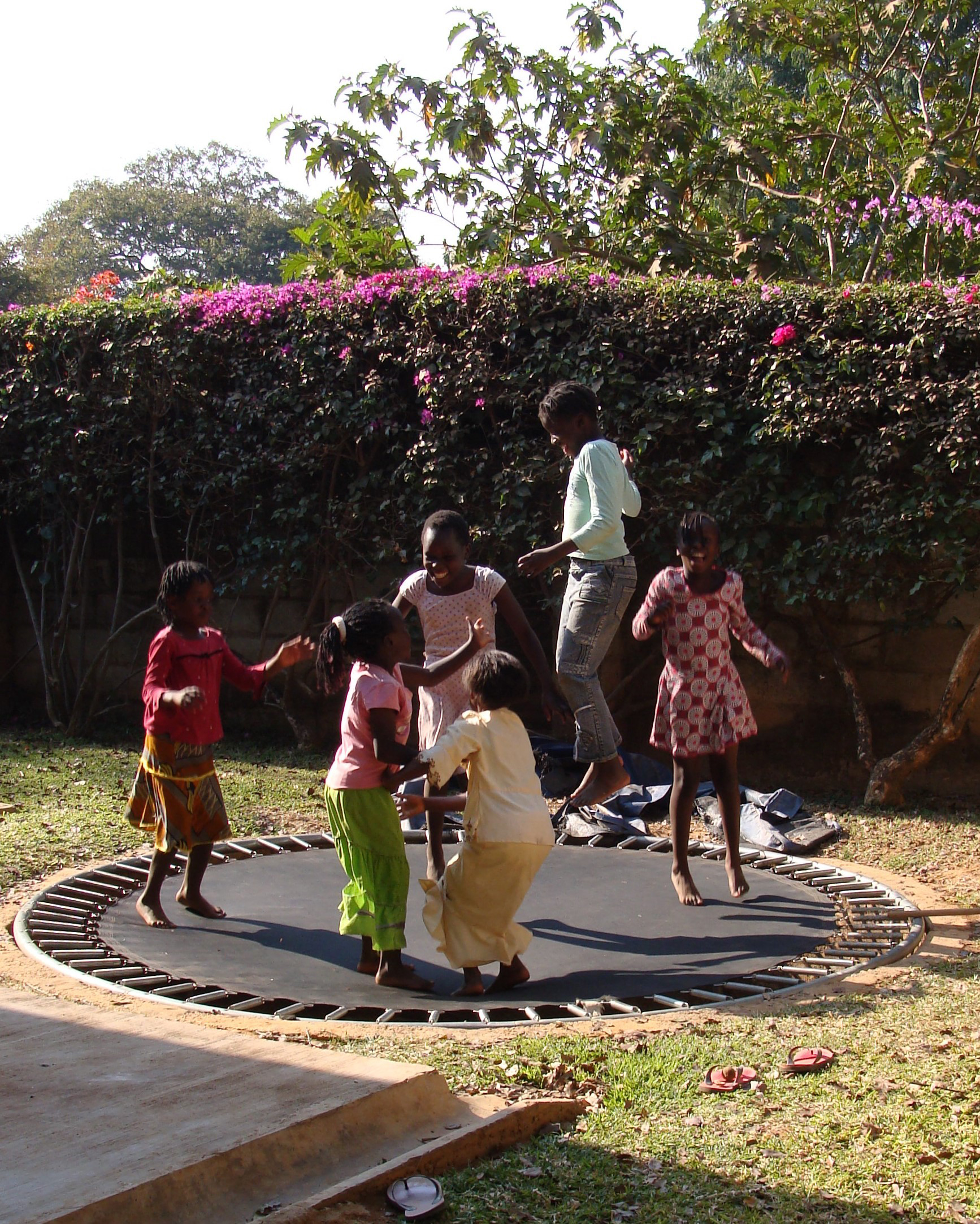 When we first moved to Zambia, our trampoline was a favorite gathering place for children living on campus.