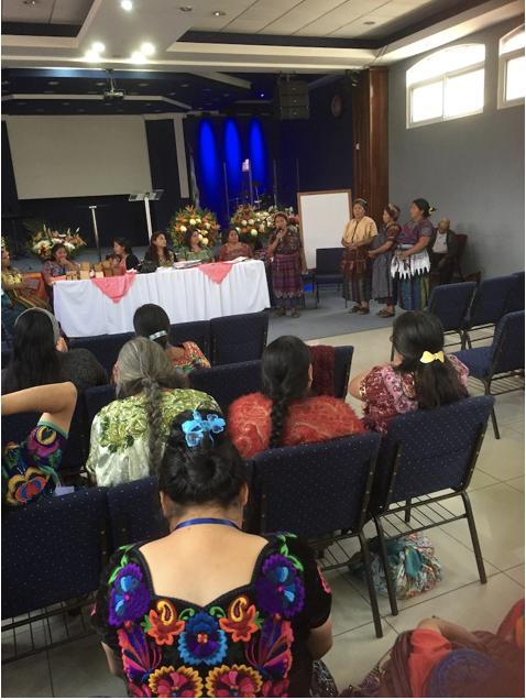 Maria Roselia Gomez moderator of Presbiterial Femenil Maya – Quiché - August 2019 - Almolonga, Quetzaltenango.