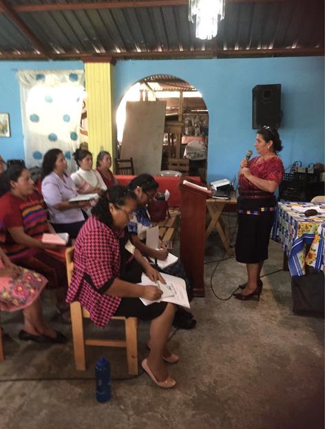 Maria Roselia Gomez moderator of the National Union of Presbyterian Women of Guatemala - February 2020 - PW Gathering - Zunil – Quetzaltenango.