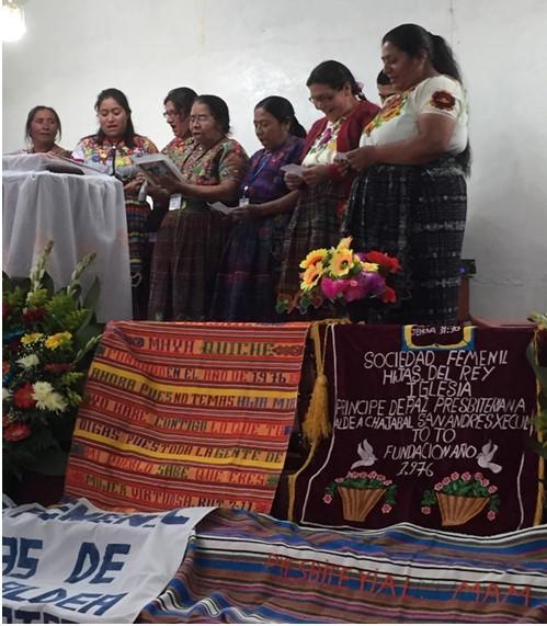 Women praising God through singing