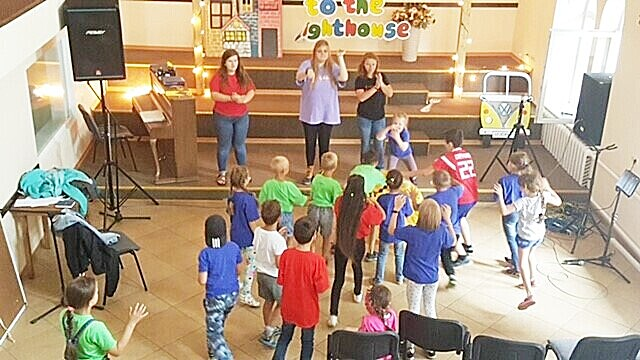 Baptist partner church - for this group, it was something more familiar -VBS. This group also experienced warm fellowship and engaged with enthusiasm.