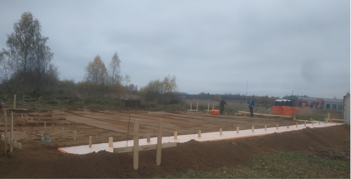 Construction of new community health center in Davydovo is underway. The site is being levelled.