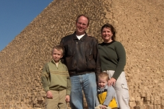 Dustin, Sherri, Clayton, and Christopher during their early days in Egypt (2005)