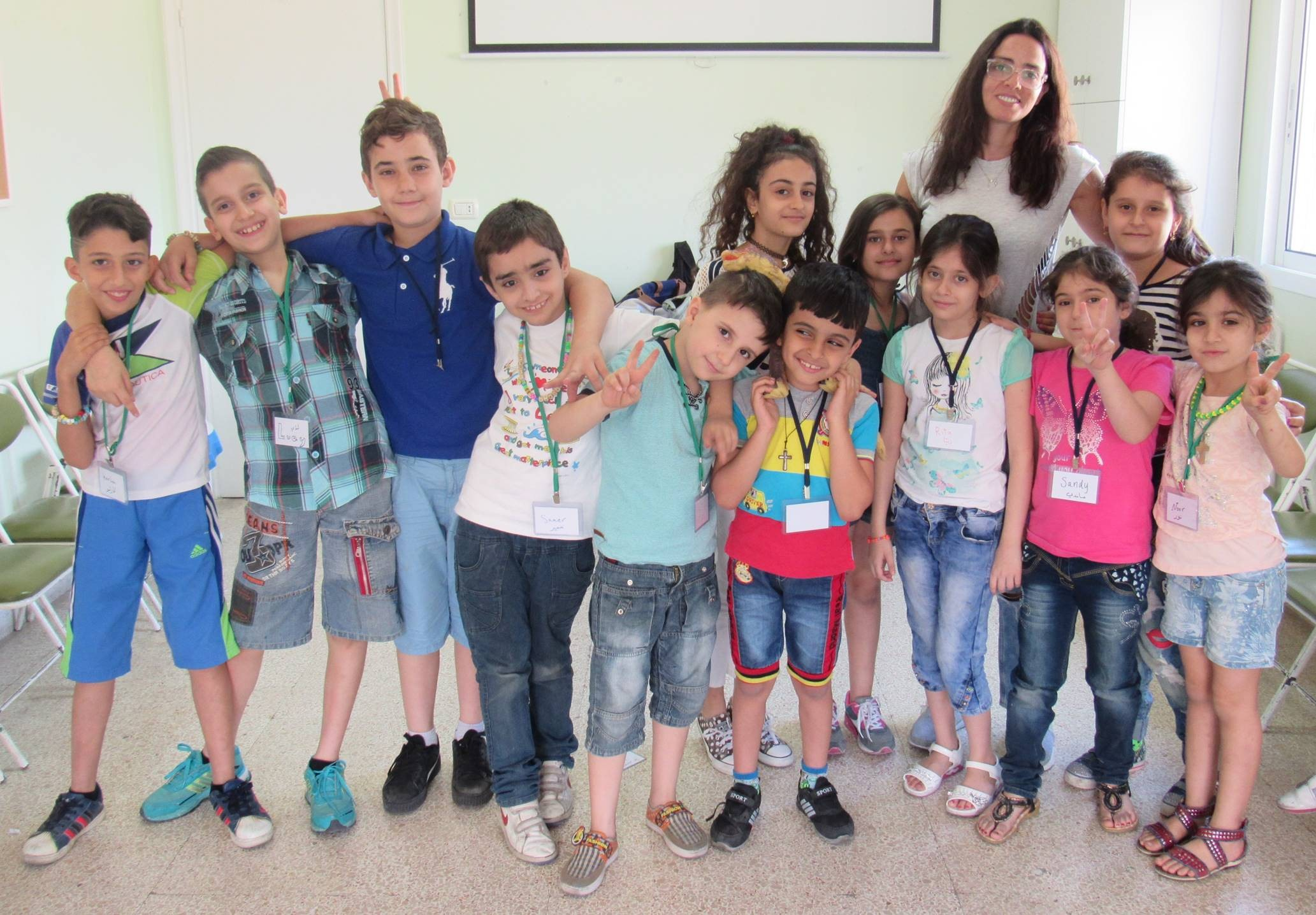 Participants in the June 2017 pilot program for Strong Kids/Strong Emotions; These children are all Iraqi refugees forced from their homes by ISIS in 2014, now living in Beirut