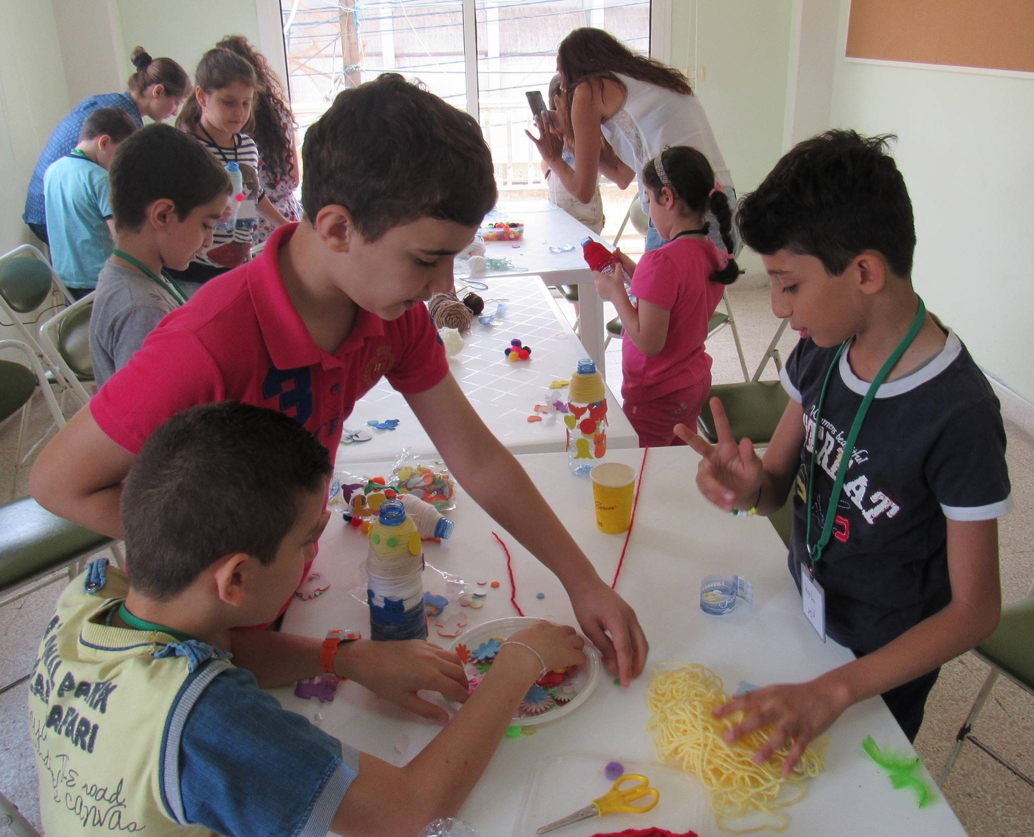 Participating in expressive activities such as art and puppetry creates a safe space for refugee children to begin processing their emotions