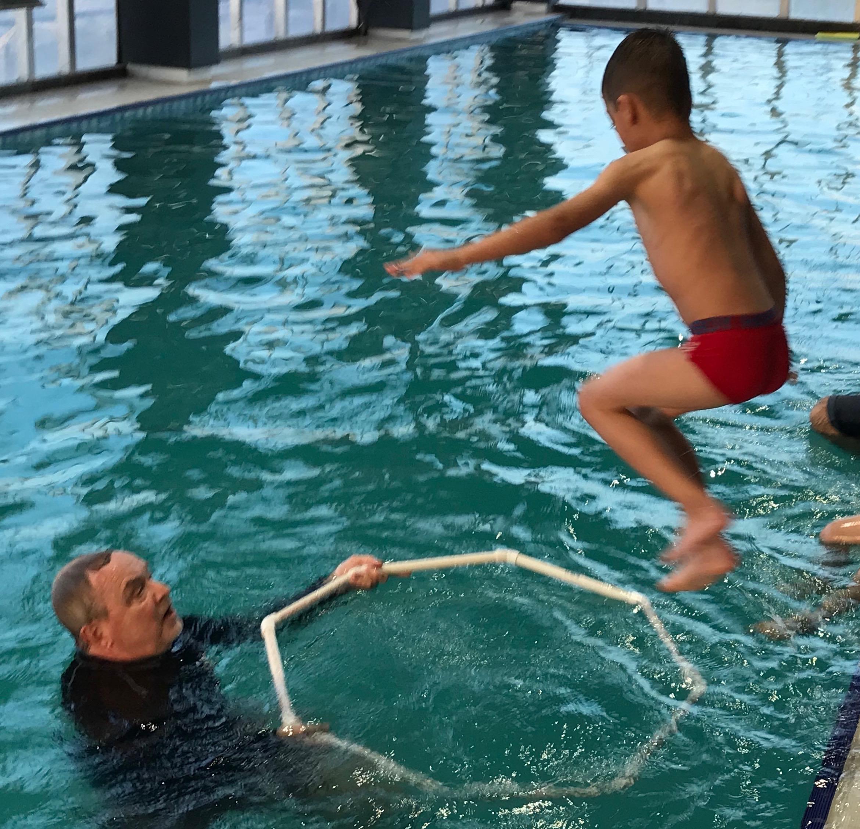 Water fun in motion.