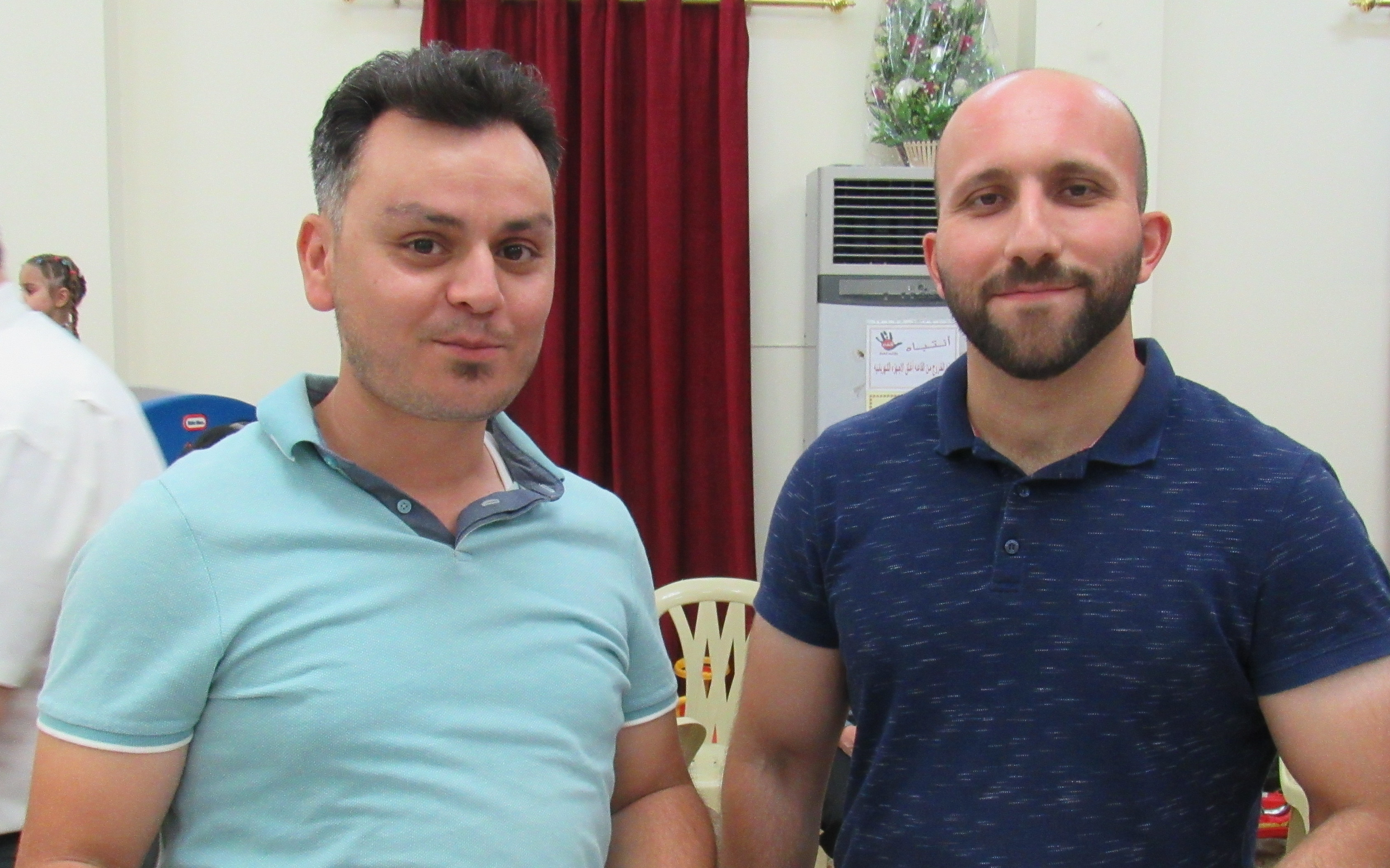 Marduk (left) and Bassem oversee the non-profit arm of the Presbyterian Church in Basra—allowing the church to serve the most economically vulnerable in the city through providing drinkable water and reliable, safe housing.