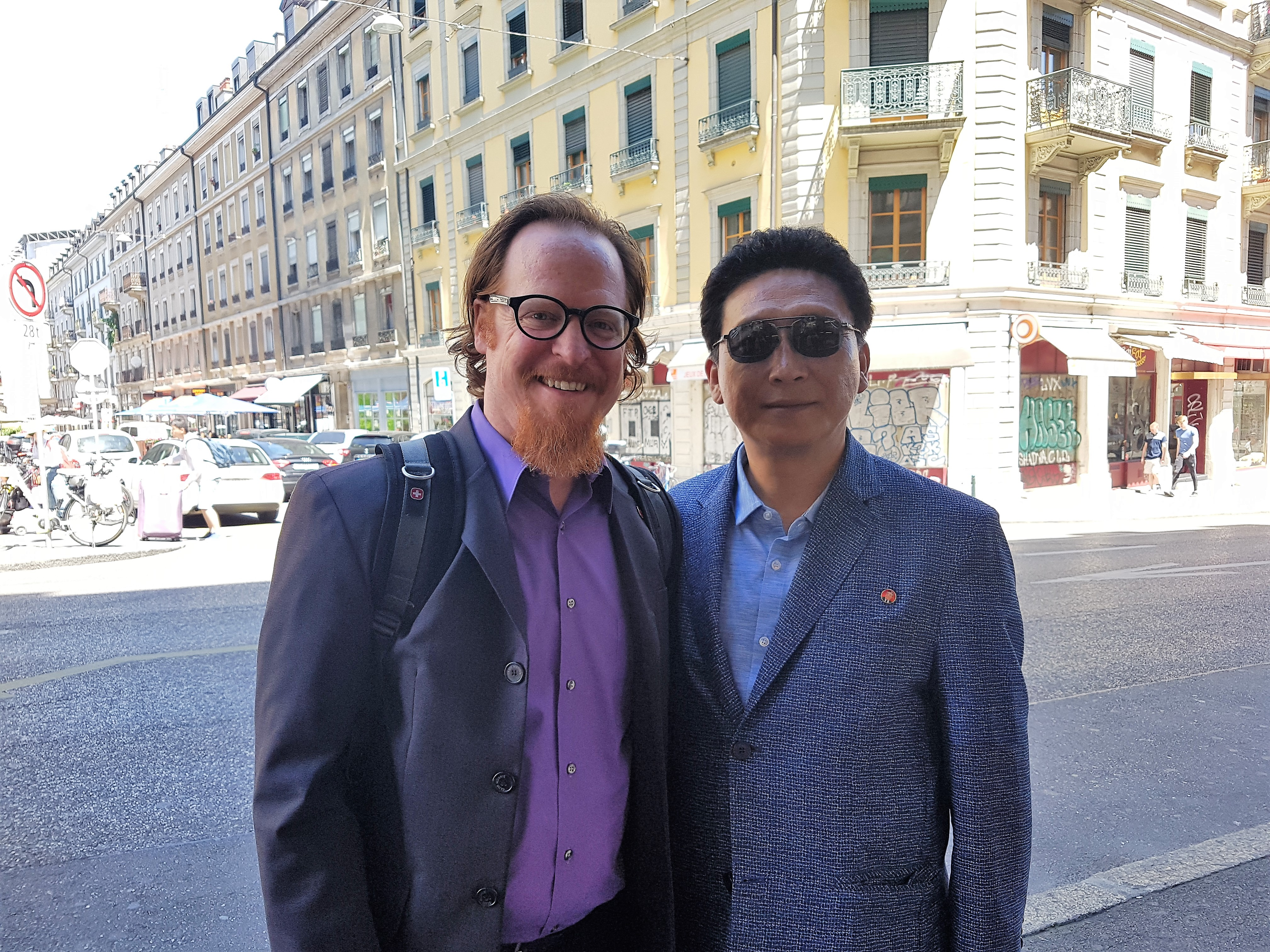 Kurt runs into Rev. Kang of the KCF on the streets of Geneva after the consultation has ended.