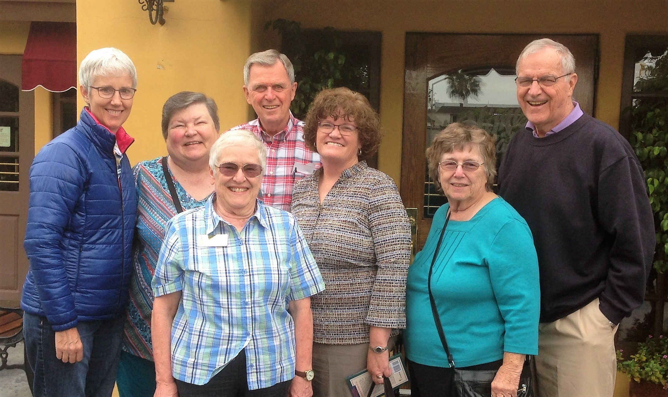 I enjoyed many yummy meals with loving long-term supporters like these from Garden Grove, CA.