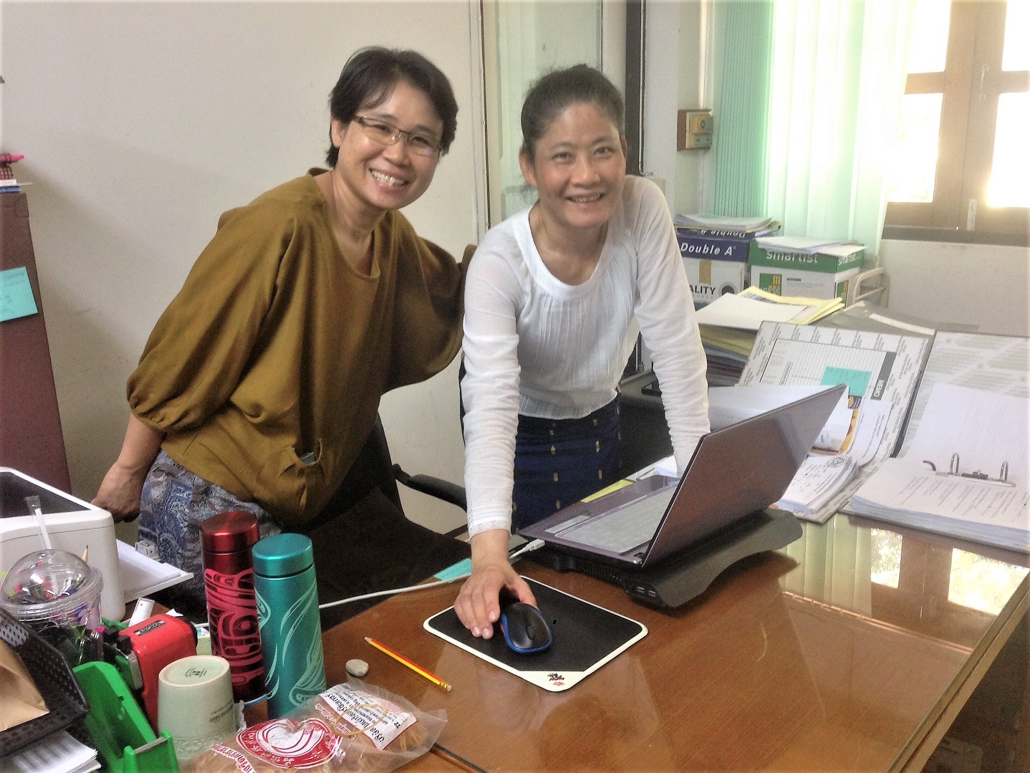 Grateful to be back in Chiang Mai working with my beloved teammates, Lum and Jib. They are such a gift — always encouraging.