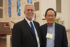 Craig Barnes (left) with Bill Teng, member, TFC presiding board (Photo by Emily Enders Odom)