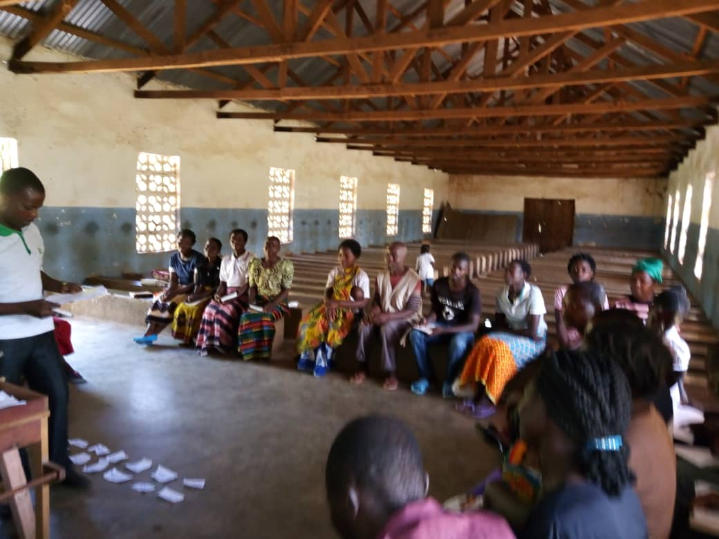 Chimwezi facilitating a CHE Committee training.