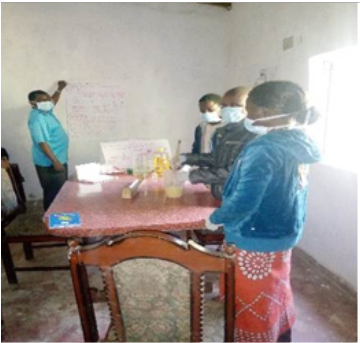 Nkhoma Synod CHE Trainers learning Soap Making