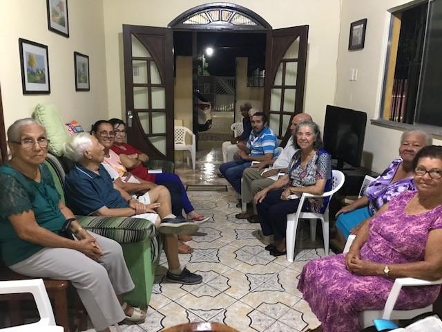 An evening prayer meeting.