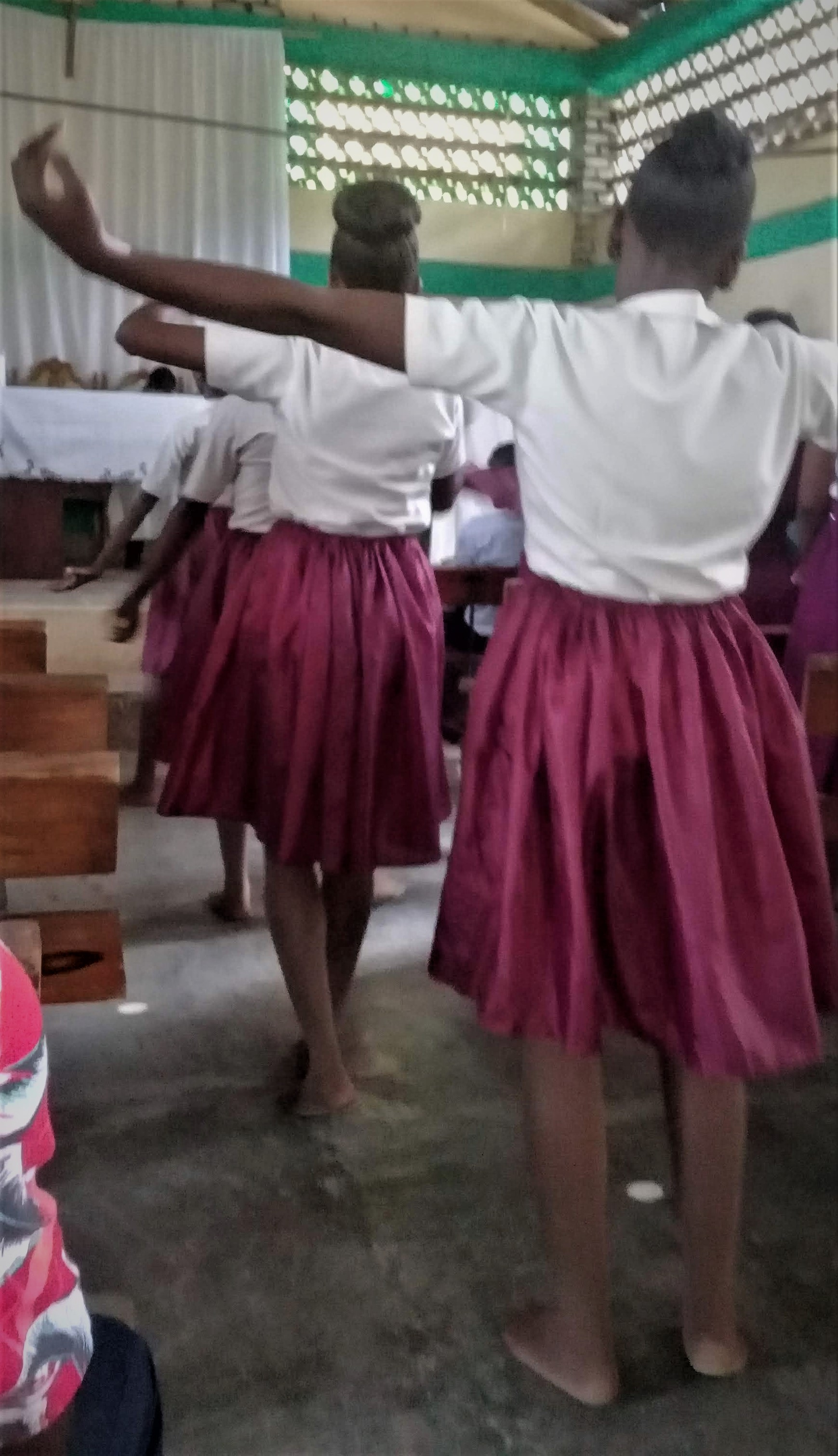 Liturgical dancing at the Papaye Catholic chapel on Sunday, May 19. Since I came to Haiti on Friday, I had time to attend mass on Sunday. The Papaye chapel is where I worshipped from 2004 until Jenny and I moved up the mountain in January 2009.