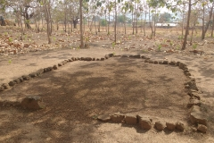 These stones form the outline of a mosque, set towards Mecca, for Muslim students at the Evangelical Presbyterian High School in Tatale, Ghana. All students must take part in Christian morning devotions and weekly worship, but the school allows a space of prayer for the minority of Muslim students among them.