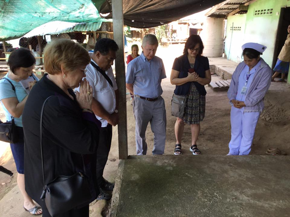 Visiting Safe House with a delegation from Presbyterian World Mission and with Sharon Bryant, mission co-worker in Thailand.  Safe House is a hospital for displaced people with psychiatric and complex medical conditions.