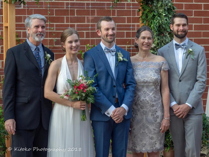 Sthreshley family at the wedding of Lisa Sthreshley & Hugh Green, September 2, 2018, Atlanta, GA.