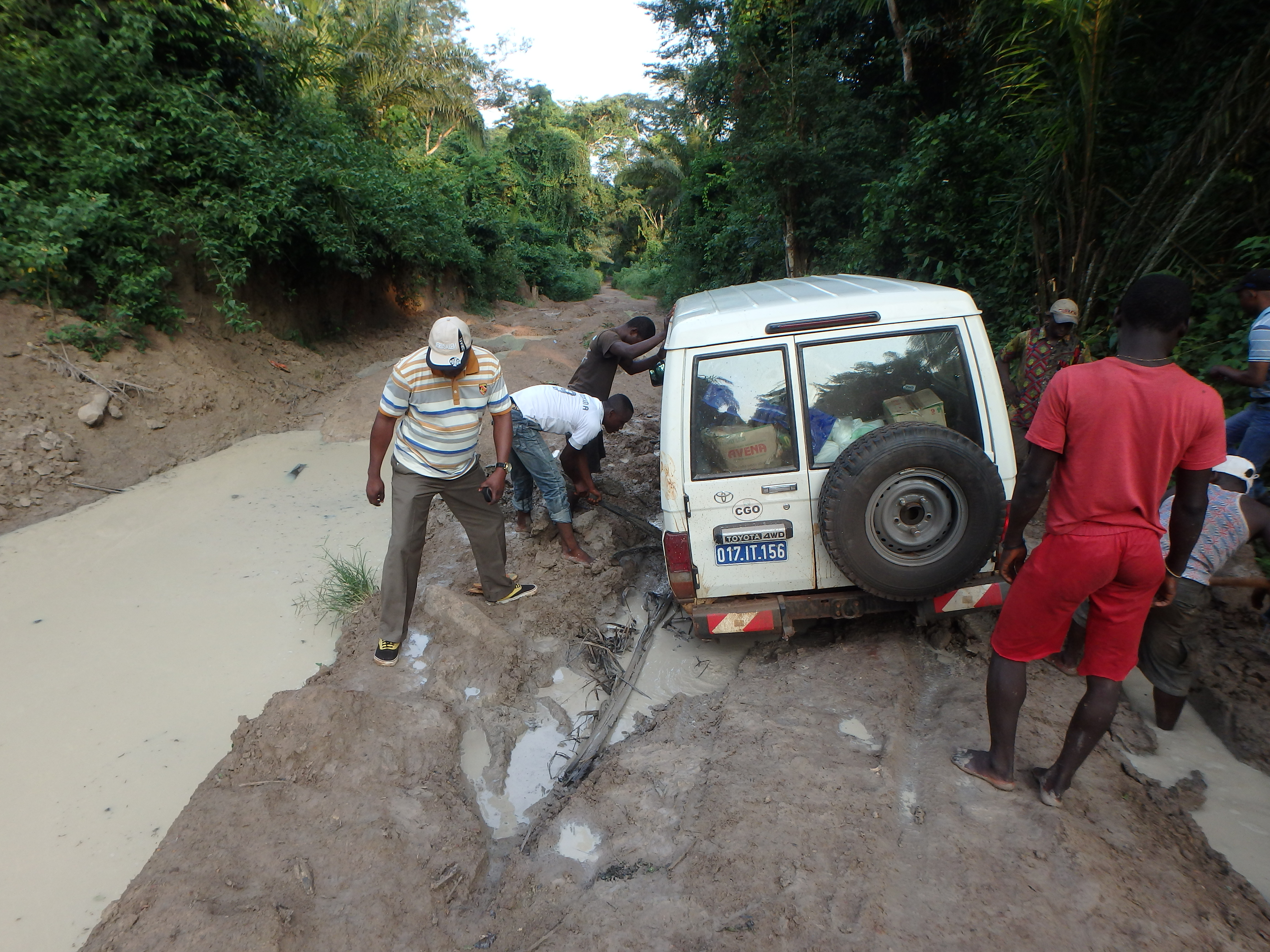 Dirt roads and heavy rains can make executing any project in rural Congo a logistical challenge.