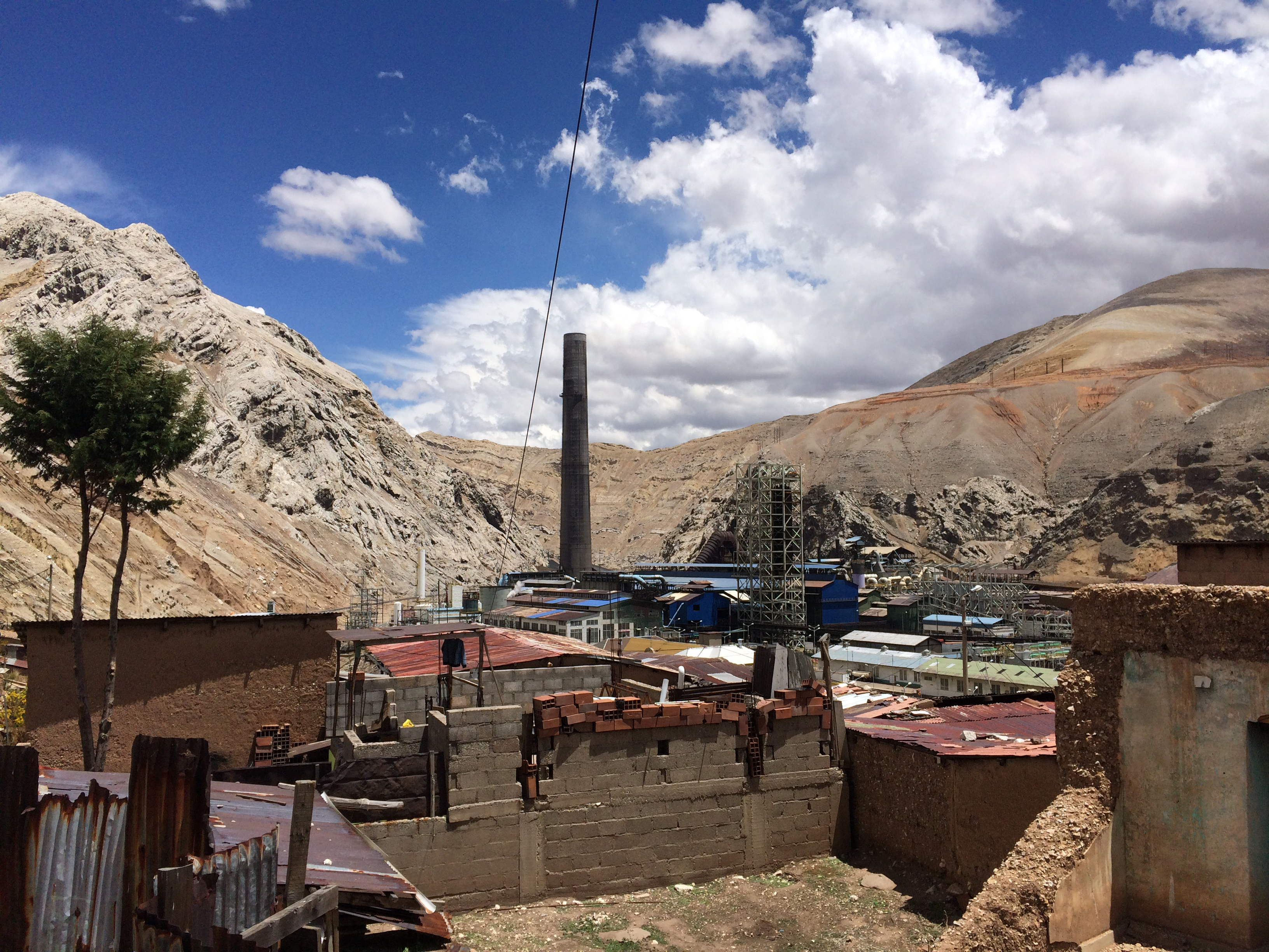La Oroya, Peru is often considered one of the most contaminated places in the world due to the toxic emissions from a now dormant metallurgical complex.