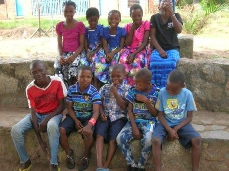 The ten displaced children from Dibaya sheltered by the CPC.