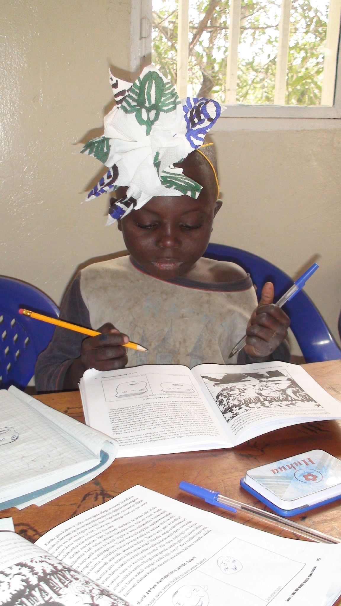 As the youngest participant, Dieubon eagerly engages in all activities.